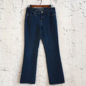 LAND'S END MIDRISE  BOOT CUT JEANS 4